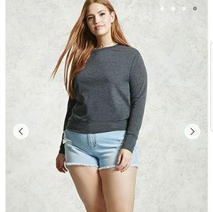 🛍Dark grey marled sweatshirt